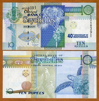 Seychelles, 10 rupees, 2013 (2016) P-54 UNC > 40th Independence Commemorative