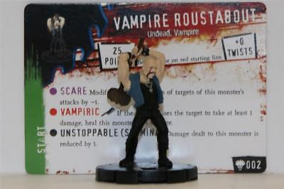 HEROCLIX HORRORCLIX Freakshow # 002 Vampire Roustabout W/CARD