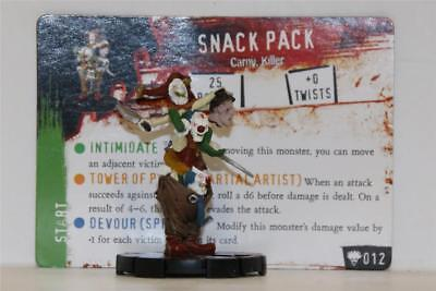 HEROCLIX HORRORCLIX Freakshow # 012 SNACK PACK CANNIBAL CLOWNS W/CARD