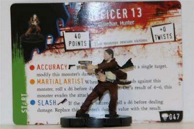 HEROCLIX HORRORCLIX Freakshow # 047 OFFICER 13 W/CARD