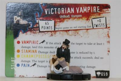HEROCLIX HORRORCLIX Freakshow # 059 VICTORIAN VAMPIRE W/CARD