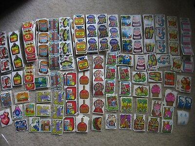 Mello Smello Vtg 80s Scratch & Sniff Stickers Nacho Cola Birthday Grape Peach &