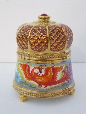 Faberge & Franklin Mint 'The Firebird' Imperial Music Trinket Box Collection