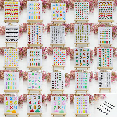 DIY Sticker Enamel Dots Resin Self-adhesive for Scrapbooking Crafts Sticky Decor