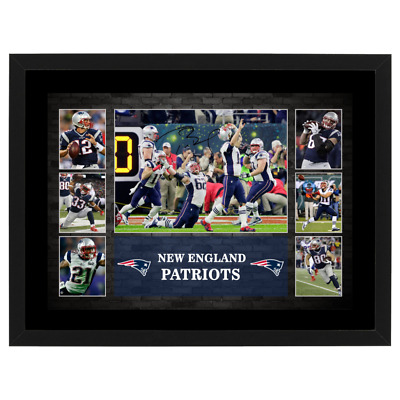 New England Patriots 2017 Superbowl Champions Signed Framed Nfl Photo Collage