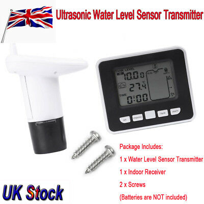 Multi-Function Lcd Display Water Tank Liquid Ultrasonic+Thermo Level Sensor 100M
