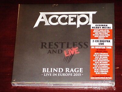 Accept: Restless And Live - Blind Rage Live In Europe 2015 2 CD Set 2017 NB NEW