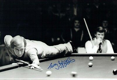 Terry GRIFFITHS 2018 Signed Autograph 16x12 SNOOKER Photo A AFTAL COA Crucible