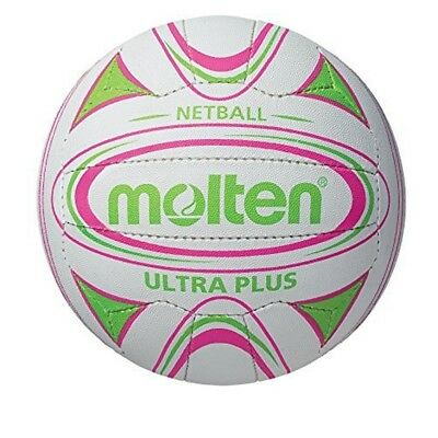 Molten Ultra Plus Club Match Netball - White/green, Size 5 - N5c2500 School
