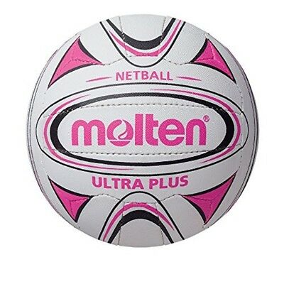 Molten Ultra Plus Club Match Netball - White/pink, Size 5 - N5c2500 School