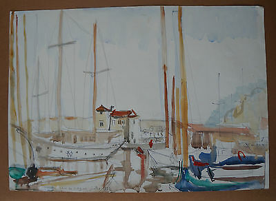 JEAN PAUL ULYSSE (1925/2011) - PORT THE CROS - CAGNES 1975 - Signed