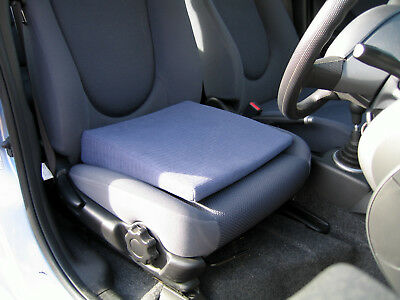 """Wizard Car Seat Cushion  Leveller 3"""" in Black for Comfort & Relief of Back Pain"""