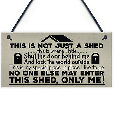 Shut The Door Novelty Shed Plaque SummerHouse Garden Sign Man Cave Friend Gifts