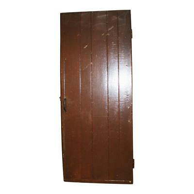 Vintage WOOD BARN DOOR wooden antique brown architectural salvage farm house old