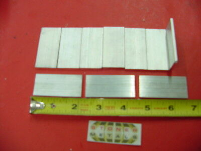 "10 Pieces 1/8"" X 1"" ALUMINUM FLAT BAR 2"" long 6061 T6511 New Mill Stock"