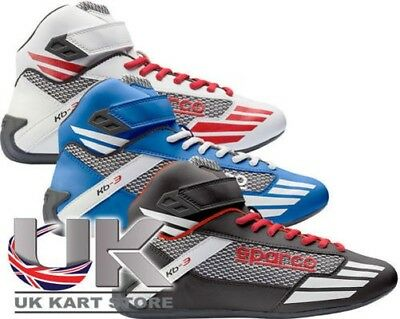 NEW Sparco Mercury KB-3 Adult Racing Boots UK KART STORE