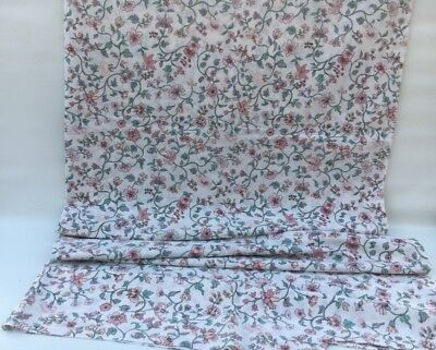 VINTAGE  DUVET COVER AND PILLOW CASE Cream Floral Beautiful Frilled Edged Pillow