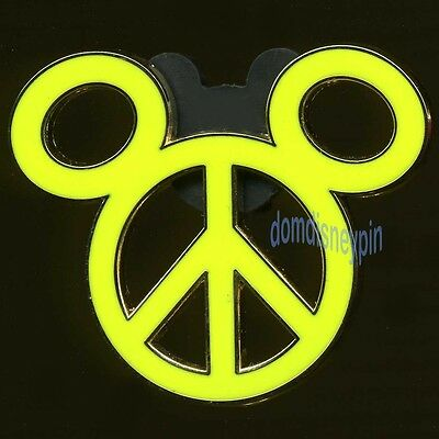Disney Pin Mickey Mouse Icon Series - Peace Sign *Neon Green*!