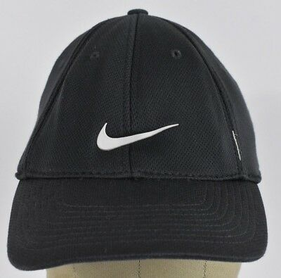 1be5cae19a6 Black Nike Brand Logo Swoosh Sports Running Tennis Baseball hat cap Fitted