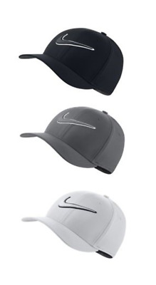 185f8879 New Nike Classic99 Fitted Golf Hat U Pick Color & Size White Black Grey  868378