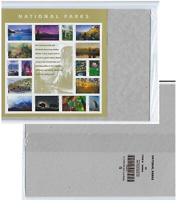 National Parks Sheet of Forever USPS Postage Stamps. New, Sealed in USPS Package