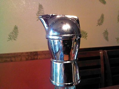 Vintage Chrome Metal Bottle Stopper Pour Spout Jigger Deco Mid Century Atomic