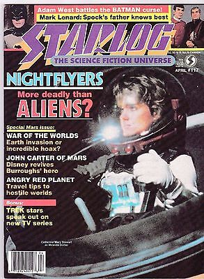 Starlog # 117 Sci-Fi Magazine Aliens John Carter Warlord Of Mars Erb Adam West
