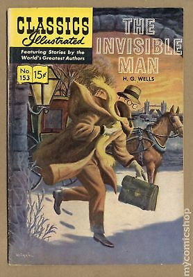 Classics Illustrated 153 The Invisible Man #1 1959 FN 6.0