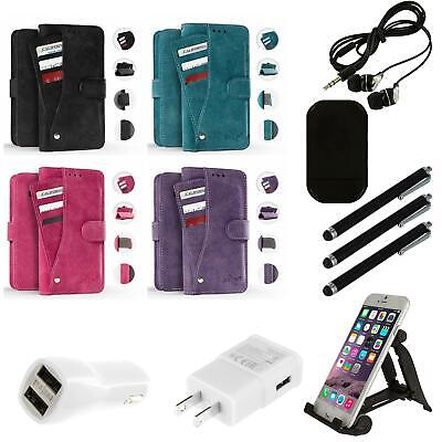 For Alcatel Crave Pulse Mix ZIZO Pocket Wallet Slide Out Case With Slots Combo