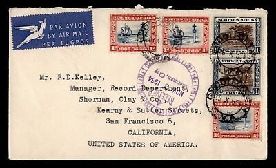1954 Southwest Africa Airmail To Usa