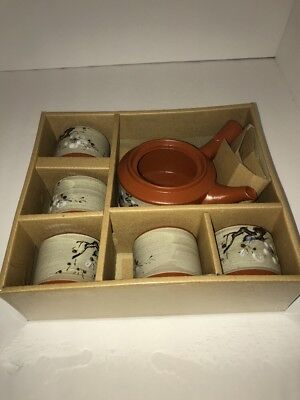 Authentic Japanese Tea Set Made In Japan 5 Cups 1 Kettle New In Box