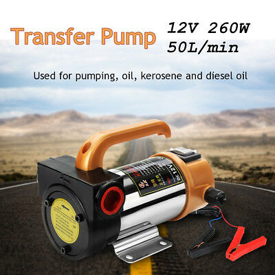 Portable 12V 260W Oil Diesel Fuel Fluid Extractor Electric Transfer Change Pump