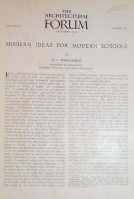 1931 ARCHITECTURE FORUM MODERN IDEAS for MODERN SCHOOLS by ENGELHARDT ColumbiaU