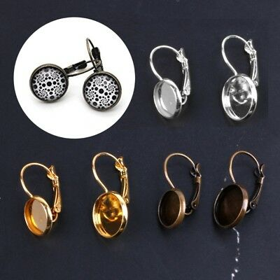 10PCS French Lever Back Earring Blanks fit 10 12mm Glass Cabochons Earring Make