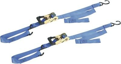 "Ancra Integra Big Bike Gradual-Release 1 1/2"" Ratchet Tie Downs Blue (49970-112)"