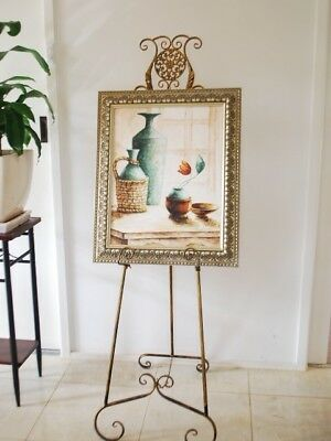 French Style Scroll Easel Frame Sign Menu Display Wedding Cast Iron Motif BS002