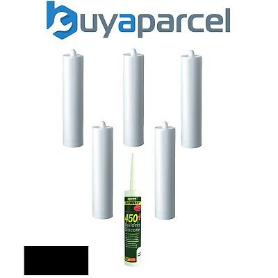 Everbuild Everflex 450 Builders Silicone Black C3 Size Pack of 6