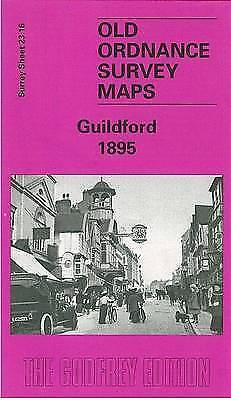 OLD ORDNANCE SURVEY MAP Guildford 1895: Surrey Sheet 23.16