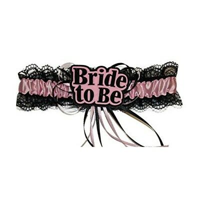Alandra Bride To Be Garter - Hen Night Pink Party Sexy Black Accessory