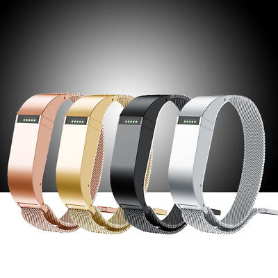 For Fitbit Flex 1 Milanese Stainless Steel Watch Strap Band + Metal Holder Case