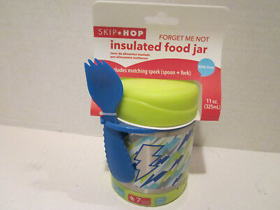 Skip Hop Kids Forget Me Not Insulated Food Jar Lightning New in Pkg.