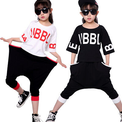 Boys Girls Children Jazz Hip-Hop Dancewear Kids Dance Harlan Pants Costumes  sc 1 st  PicClick UK & BOYS GIRLS CHILDREN Jazz Hip-Hop Dancewear Kids Dance Harlan Pants ...