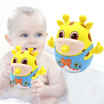 Cute Baby Tumble Bath Toys Squirt Kids Float Water Tub Rubber Bathroom Play Toy