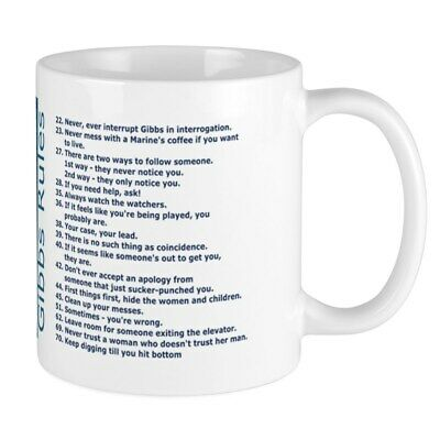 CafePress Gibbs Rules NCIS Mugs 11 oz Ceramic Mug (2045717969)