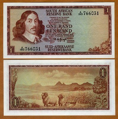 South Africa, 1 Rand ND (1967) P-109b, UNC