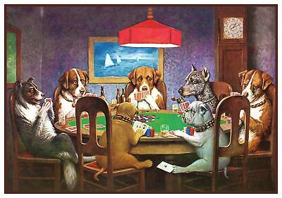 Dogs Playing Poker .. A Friend in Need.. by Coolidge Counted Cross Stitch Chart