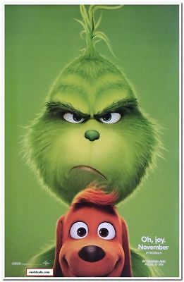 "GRINCH - 2018 - Original 27x40 ADVANCE ""B"" movie poster - BENEDICT CUMBERBATCH"