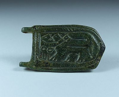 Fabulous Byzantine Zoomorphic Bronze Buckle Plate Circa 6Th/7Th Century Ad