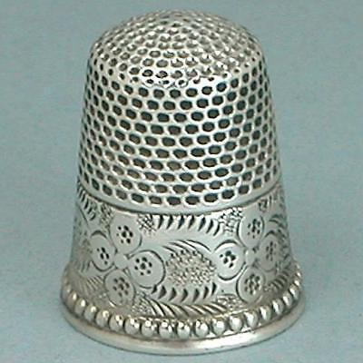 Antique Sterling Silver Child's Thimble * American * Circa 1880s