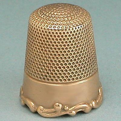 Lovely Antique 10 Kt Rose Gold Louis XV Rim Thimble * Circa 1890s